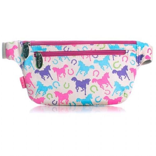 Milly Green Ponies Canvas Kids Bum Bag